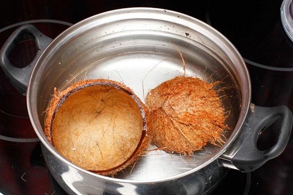 Дезинфекция кокосовой кожуры