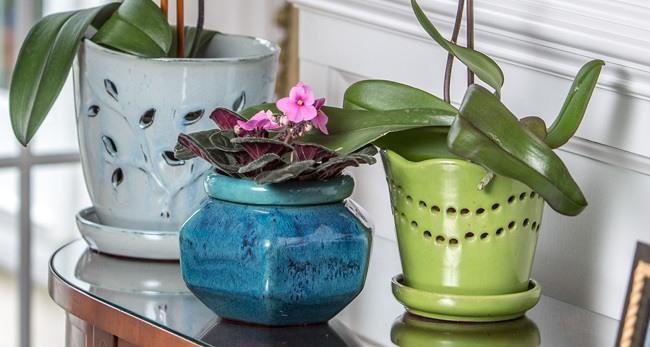 Керамические горшки для орхидеи